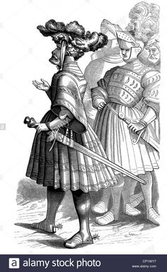 Military, Knights, German Knights Of The 16th Century, Woodcut By Stock Photo, Royalty Free Image: 47985483 - Alamy