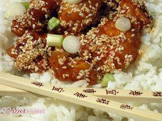 Kínai szezámmagos csirke csípős-édes bundában