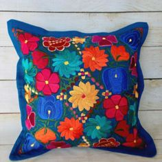 Add an ethnic feel to your room with this cotton handmade Kantha cushion cover. - Design: Floral Kantha Cushion Cover ( Cover Only Filling Not Included. Cushion Covers, Throw Pillow Covers, Pillow Shams, Throw Pillows, Mexican Furniture, Home Decor Furniture, Mexican Home Decor, Mexican Decorations, Mexican Pillows