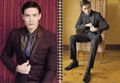 Holiday 2011 Look Book. Tailored Suit. L/S Button-down Shirt. Both by Francis Libiran. Necktie by Randy Ortiz.