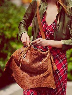 Free People Gypsy Leather Hobo