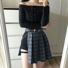 Stylish ideas on spring korean fashion 749 Source by clothes fashion outfit Stage Outfits, Kpop Outfits, Edgy Outfits, Korean Outfits, Grunge Outfits, Pretty Outfits, Girl Outfits, Fashion Outfits, Korean Fashion Trends
