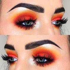 Good pigment and natural look. #BeautyHacksEyelashes Matte Makeup, Eye Makeup Tips, Makeup Goals, Skin Makeup, Eyeshadow Makeup, Eyeshadows, Yellow Eyeshadow, Glitter Makeup, Summer Eye Makeup