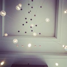 From my visit to the #hiltonchicago #lobby #lightfixture #lighting #interiors #hilton #interiordesign #bocci #latergram