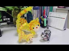 Part Body- How to make beaded Cat Brick Stitch Tutorial, Beady Eye, Bead Kits, Beaded Animals, Beaded Bags, Stuffed Animal Patterns, Art Dolls, Projects To Try, Make It Yourself