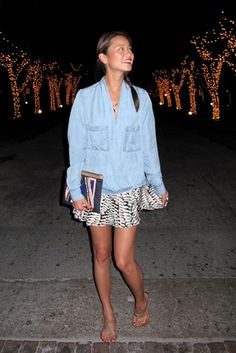 Jamie Chung wearing Sass & Bide THE BACK SEAT made in africa clutch