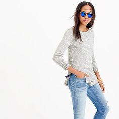 The look of a tunic with the feel of a sweatshirt