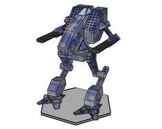 MechCommander 2 - Mad Dog (Vulture) Free Paper Model Download - http://www.papercraftsquare.com/mechcommander-2-mad-dog-vulture-free-paper-model-download.html#Battletech, #MadDog, #MechCommander, #MechWarrior, #Vulture