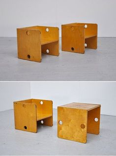 copy these: plywood chairs + tables (for kid's or adults)