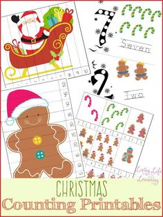 Get into the holiday spirit with this fun Christmas counting printable
