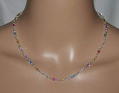Beaded Necklace, Jewelry, Necklaces, Pastel Colors, Corning Glass, Beaded Collar, Jewlery, Pearl Necklace, Jewerly