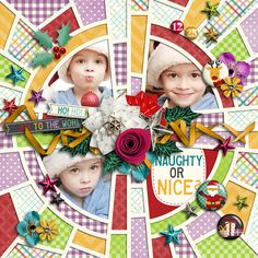 Very Merry Christmas | Elements, Wordbits, Journal Cards, Papers by Akizo Designs Crazy Squares #02 | Templates by Akizo photo by photoxpress