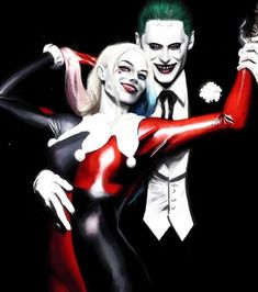 "longlivethebat-universe: "" Harley and Joker (Alex Ross inspired by art) by Tiago Da Trinti "" Joker Y Harley Quinn, Harley Quinn Cosplay, Alex Ross, Buffy, Dc Comics Peliculas, Joker Frases, Hearly Quinn, Der Joker, Deadshot"