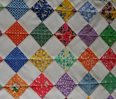 Reproduction Feed Sack Quilted Table Runner by ForgetMeNotQuilteds