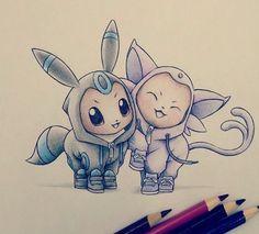Item dans 25 Pokémons dans de magnifiques costumes de leur évolution ! Votez pour les plus mignons !