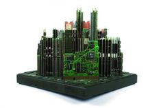 Architectural Sculptures Made of Old Computer Parts - My Modern Metropolis