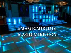 Ultimate DJ Booth Set Up with Sound Activated Lighting and color changes. With matching LED Lighted Dance Stages and full LED Dance Floor Dance Stage, Led Dance, Dance Floor Lighting, Dj Lighting, Magic Mike Live, Dj Booth, Dj Music, Color Change, Dance Floors