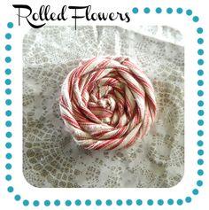 DIY Rolled Fabric Flowers - Tutorial