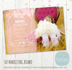 Photography Marketing Board - Little Lady Mini Sessions - Photoshop Newsletter template - IG002 - INSTANT DOWNLOAD