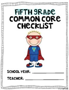 Fifth Grade Common Core Checklist for standards taught from TpT. This will save me a lot of typing!