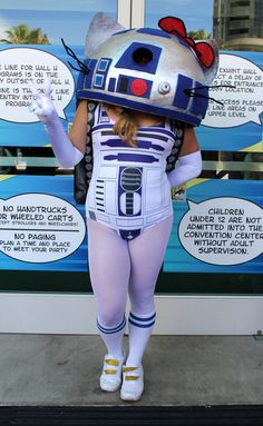 Hello Kitty R2-D2 Cosplay Costume