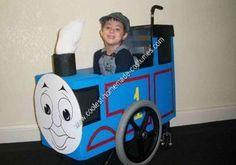 Homemade Thomas the Train Wheelchair Halloween Costume