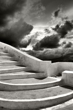 Stairs To The Clouds, Santorini, Greece~ Law and Fashion -Criminal Intent- The Places Youll Go, Places To Go, Stairway To Heaven, Paris, Great Photos, Amazing Photos, Stairways, Amazing Photography, Greece Photography