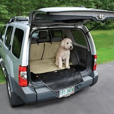 Kurgo Cargo Cape Liner for dogs.  Fits SUV cargo area. Protects your car's interior, provides extra storage space and has a bumper flap to protect your car's bumper from scratches.