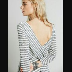 Free People Stripe Dress Gorgeous striped dress by Free People. Wear it this winter with tights or leggings, and your favorite chunky scarf!  Loose fit.  New with tags. Free People Dresses