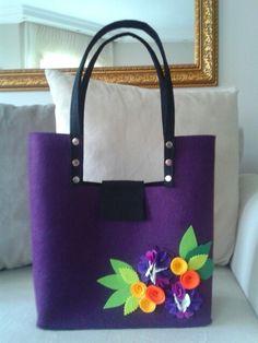 Keçe çanta- felt bag
