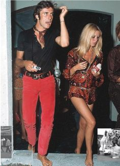 Gigi Rizzi and Brigitte Bardot, Saint Tropez, 1968