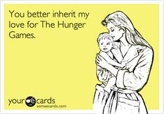Eh, it's up to my kids, but let's just say I'll be THAT MOM who reads to her fetus. And chances are, I'll be reading THG.