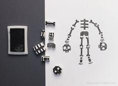 Stämpla skelett  - eller annat ---suddgummin