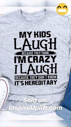 Funny T Shirt Sayings, Funny Tee Shirts, T Shirts With Sayings, Cool T Shirts, Funny Quotes, Shirt Quotes, Sassy Shirts, Clean Funny Jokes, Hilarious