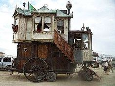 Caravan Gypsy Vardo Wagon: A #Gypsy wagon ~ the Neverwas Haul.