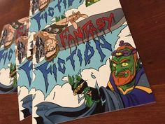 Fantasy Fiction Logo Sticker | Fantasy Fiction Fantasy Fiction, Logo Sticker, Comic Books, Stickers, Comics, Logos, Art, Craft Art, Drawing Cartoons