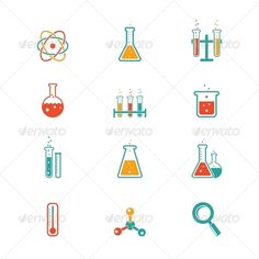 Chemistry Icons #graphicriver