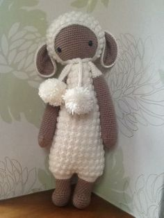 LUPO the lamb made by Esther H. / crochet pattern by lalylala
