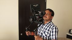 DoP J.Prabhakar Reddy checking out Element Technica's Epic Cage with the new Compact Shoulder Pad setup. Also the new Mini Clutch system that can mount the RED Touch 5.0 LCD as well as the Bomb OLED EVF system.