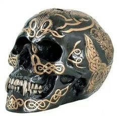 Gold Encrusted Skull Head