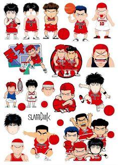 Anime Stickers, Cute Stickers, Yu Yu Hakusho Anime, Slam Dunk Anime, Decoration Stickers, Kung Fu Panda, Aesthetic Stickers, Neon Genesis Evangelion, Slammed