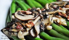 Sauteed Mixed Mushrooms with Green Beans