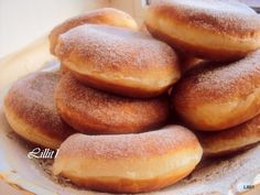 Donuts with chocolate cream