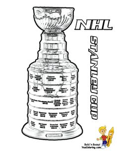 power house hockey coloring pages nhl championship trophy coloring page
