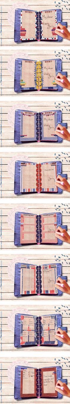 Wonderland: Filofax pages _ vintage circus memo lines page for filofax pocket ( #refill #pocket #filofax #organizer #planner #page #agenda #homemade #handmade #memo #vintage #circus) $2.7
