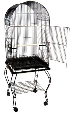 YML 20-Inch Dometop Parrot Cage with Stand, Black YML http://www.amazon.com/dp/B0002A6VCE/ref=cm_sw_r_pi_dp_uIDCub09T87G3