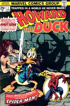 """""""Howard the Duck"""" was created by Steve Gerber and brought to life in Marvel Comics by Gerber and artists Val Mayerick, Frank Brunner and Gene Colan. Part super-hero, part satire, part social commentary, Howard was the voice of the common man, crying out about the injustices of being """"trapped in a world he never made"""". Google Image Result for http://2.bp.blogspot.com/_5YsHcdKj67c/TRRhS5Ac9oI/AAAAAAAAGAM/Lyte2dah3eQ/s1600/Howard%252Bthe%252BDuck%252B01%252B-%252B00%252B-%252BFC.jpg"""