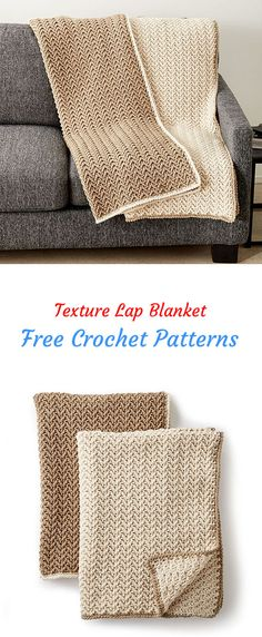 Texture Lap Blanket Free Crochet Pattern #crochet #crafts #homedecor #blanket #handmade