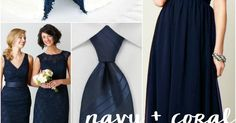 Navy and coral - great nautical wedding colors