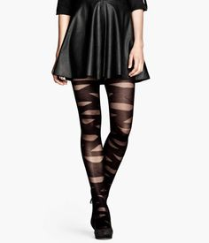 Designer Clothes, Shoes & Bags for Women Striped Tights, Sheer Tights, Patterned Tights, Black Tights, Gothic Fashion, Girl Fashion, Fashion Design, Cute Tights, Tight Leggings